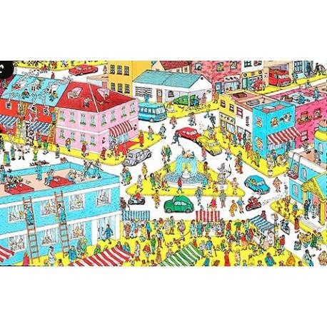 Puzzle 250 pièces - Où est Charlie? - Charlie en ville