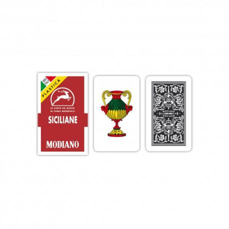 Cartes à jouer italiennes Siciliane N96 - 100% Plastique