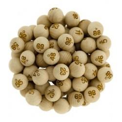 Boules de Loto et Bingo - 90 Boules 20mm en bois