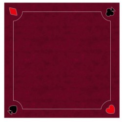Tapis Cartes Excellence Néo Multi Rouge 60x60cm