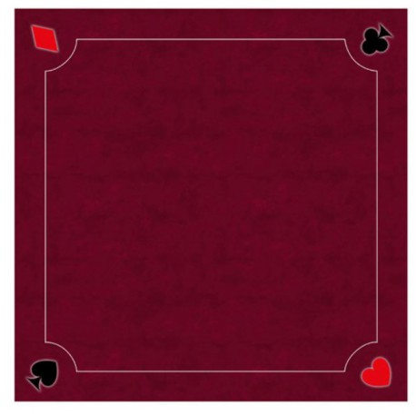 Tapis Cartes Excellence Néo Multi Rouge 60x60cm