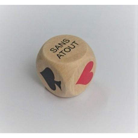 Dé atout pour belote 30mm
