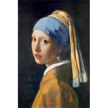 Puzzle 1000 pièces - Jeune fille à la perle, Jan Vermeer