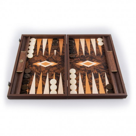 Backgammon California Dark Walnut Burl 48x30cm