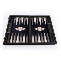 Backgammon Pearly Grey 30x20cm