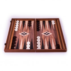 Backgammon Replica Walnut - 30cm
