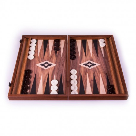 Backgammon Replica Walnut - 30cm