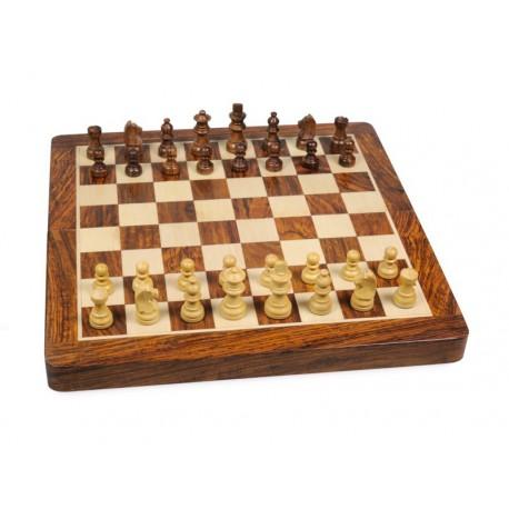 Jeux d'échecs Bois d'Acacia Magnétique Pliant 30cm