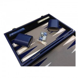 Backgammon Prestige 30cm Bleu - Bleu