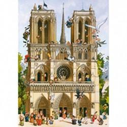 Puzzle 1000 pièces - Vive Notre Dame