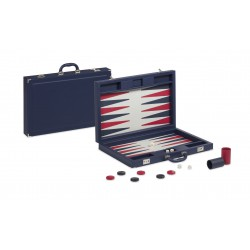 Backgammon Simili Cuir Blue Deluxe