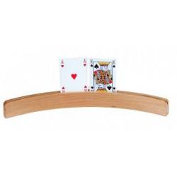 Porte cartes bois courbe 50 cm