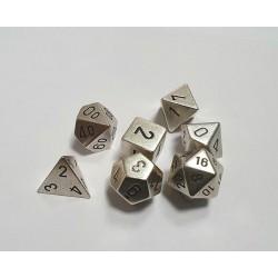 Dés Metal Finition Argent CHX (x7)