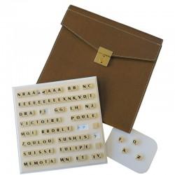 Scrabble duplicate de luxe magnétique bleu