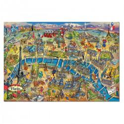 Puzzle 500 pièces - Plan de Paris
