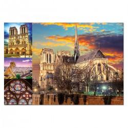 Puzzle 1000 pièces - Notre Dame (Collage)