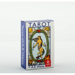 Tarot divinatoire A.E. Waite Pocket Blue TBX (Rider) (anglais)