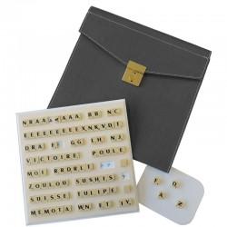 Scrabble magnétique duplicate cuir gris
