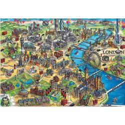 Puzzle 500 pièces - City Map Londres