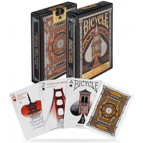 Cartes à jouer Bicycle Architectural Wonders of the World