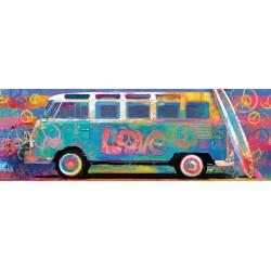 Puzzle 1000 pièces Panoramic - Love Bus