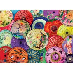 Puzzle 1000 pièces - Parasols asiatiques en papier
