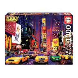 Puzzle 1000 pièces - Times Square, New-York Néon