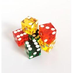 Dés de Casino (x6) - Rouge, Jaune et Vert