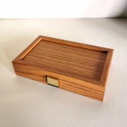 Backgammon Noyer Simili Bois - Petit Modèle