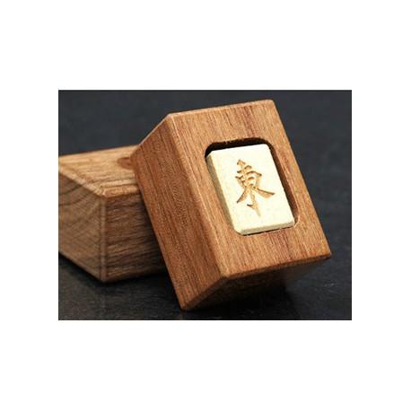 Marqueur de vent dominant en bois pour mahjong