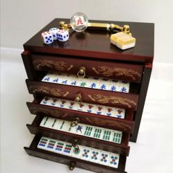 Mahjong Coffret Tradition Mini - Bois et Acrylic