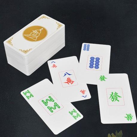 Jeu de Cartes Mah-Jong 100% Plastique