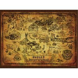 Puzzle 550 pièces - The Legend of Zelda Collector's Puzzle Hyrule Map