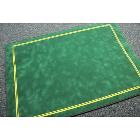 Tapis de cartes deluxe Suédine 70x50cm Vert Galoné