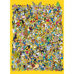 Puzzle 1000 pièces - The Simpsons Cast Collector