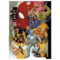 Puzzle 1000 pièces - Marvel 80 Years