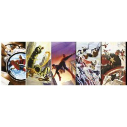 Puzzle 1000 pièces - Marvel 80th Anniversary Characters - Panorama