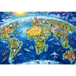 Puzzle 2000 pièces - Symboles du Monde