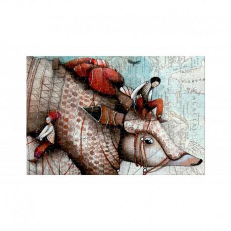 Micro Puzzle 150 pièces - Voyage avec Tatou