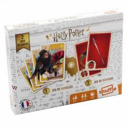 Cartes à jouer Harry Potter - Duo Pack : 7 Familles et Memory