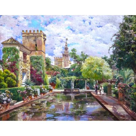 Puzzle 250 pièces - Le bassin d'Alcazar de Rodriguez