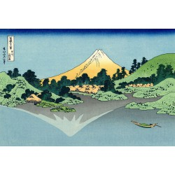 Puzzle 80 pièces - Reflet du Mont Fuji d'Hokusai