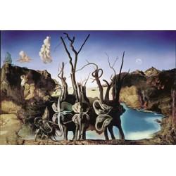Puzzle 1000 pièces - Cygnes reflétant des éléphants de Salvador Dali