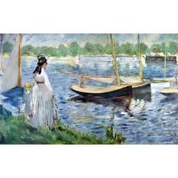 Puzzle 1000 pièces - Rives de la Seine à Argenteuil, Édouard Manet
