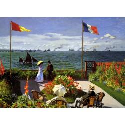 Puzzle 1000 pièces - Terrasse à Sainte-Adresse, Monet