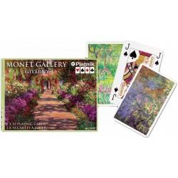 Coffret double cartes à jouer Jardins de Monet