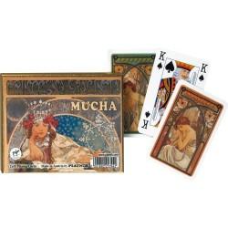 Coffret double cartes à jouer Hyacinta par Mucha