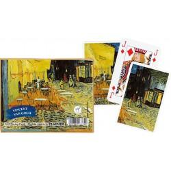 Coffret double - Cartes à jouer Van Gogh Café