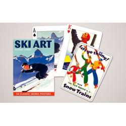 Cartes à jouer Ski Art