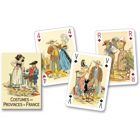 Cartes à Jouer Costumes des Provinces de France